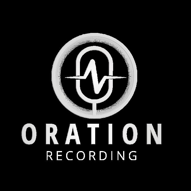 Oration Recording white logo